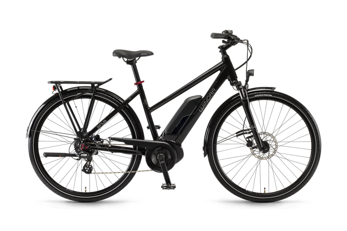 Winora Sinus Tria 7eco Damen City E-Bike Produktabbildung vor transparentem Hintergrund