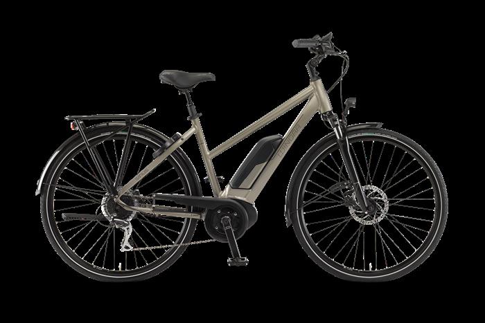 Winora Sinus Tria 8 Damen City E-Bike Produktabbildung vor transparentem Hintergrund