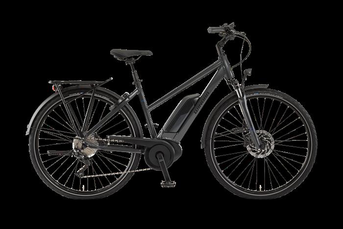Winora Sinus Tria Damen City E-Bike Produktabbildung vor transparentem Hintergrund
