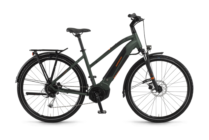 Winora Yucatan i9 Damen Trekking E-Bike Produktabbildung vor transparentem Hintergrund