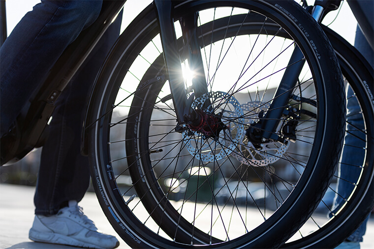 Winora e-bike front wheels
